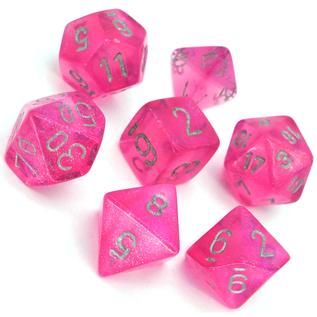 Pink Borealis Dice Set