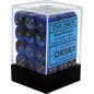 Black Blue Gold Gemini 12mm D6 Block (36)