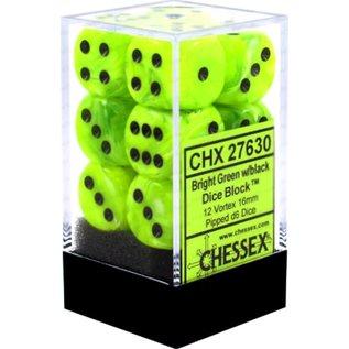 Bright Green Vortex 16mm D6 Block (12)