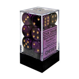 Black & Purple Gemini 16mm D6 Block (12)