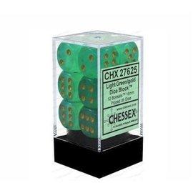 Light Green Borealis 16mm D6 Block (12)