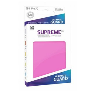 Ultimate Guard Supreme UX Pink Sleeves 60ct (Small)