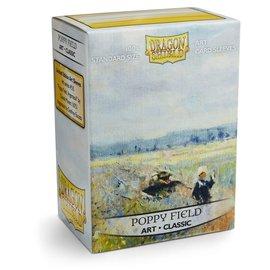 Arcane Tinmen Dragon Shields: (100) Art Sleeves Classic Poppy Field