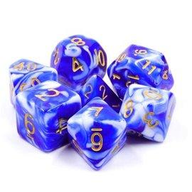 Goblin Dice Blue Porcelain Dice Set