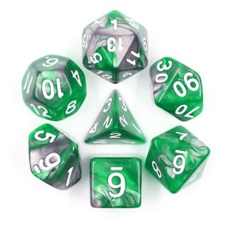 Goblin Dice Emerald Ore Dice Set