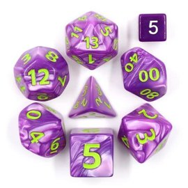 Goblin Dice Giant Purple Pearl Dice Set