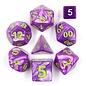 Goblin Dice Giant Purple Pearl Dice Set