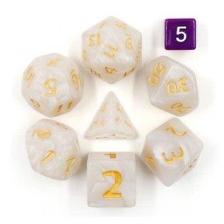 Goblin Dice Giant White Pearl Dice Set