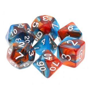 Goblin Dice Copper and Lapis Dice Set