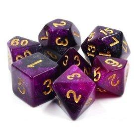Goblin Dice Purple Galaxy Dice Set