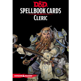 Gale Force Nine D&D Spellbook Cards Cleric