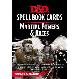 Gale Force Nine D&D Spellbook Cards Martial Powers & Races