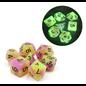 Goblin Dice Purple & Green Glow in the Dark Dice Set