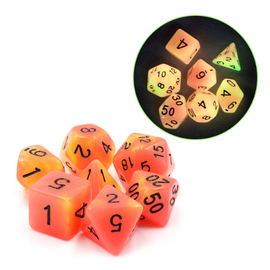 Goblin Dice CAUTION! Glow in the Dark Dice Set