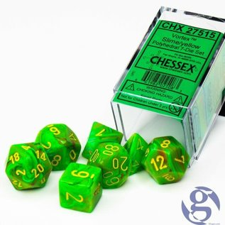 Slime Yellow Vortex Dice Set