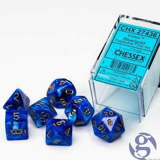 Blue Gold Vortex Dice Set