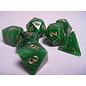 Green Gold Vortex Dice Set