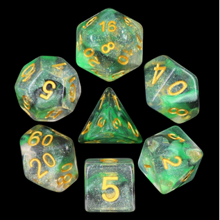 Goblin Dice Electric Venom Dice Set