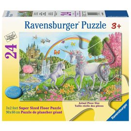 Prancing Unicorns Floor Puzzle