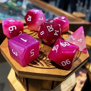 Norse Foundry Striped Pink Agate Gemstone Dice