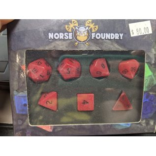 Norse Foundry Red Jade Gemstone Dice