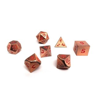 Easy Roller Dice Ancient Copper Metal Dice - Red