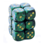 Jade Gold Scarab 16mm D6 Block (12)