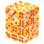 Sunburst Red Festive 12mm D6 Block (36)