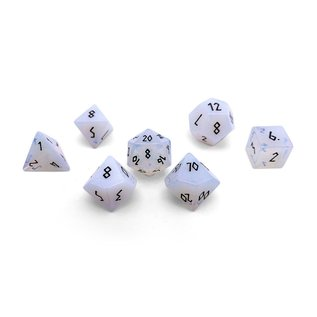 Norse Foundry Opalite & Black Gemstone Dice