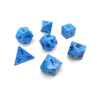 Norse Foundry Blue Turquoise Gemstone Dice