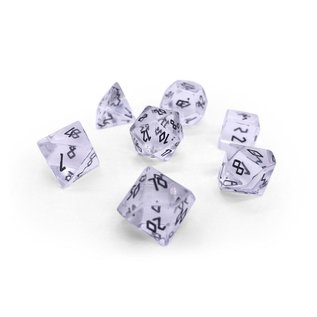 Norse Foundry Clear Crystal & Black Gemstone Dice