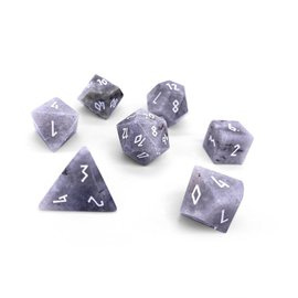 Norse Foundry White Labradorite Gemstone Dice