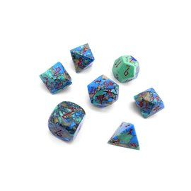 Norse Foundry Tri Color Turquoise Gemstone Dice