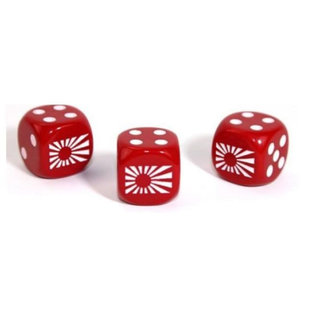 Axis and Allies Japan Gemini Red White D6