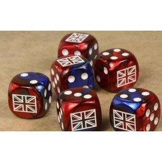 Axis and Allies Great Britian Gemini Blue Red D6