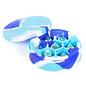 Blue/White/Light Blue Silicone Round Dice Case