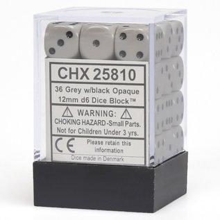 Grey Opaque 12mm D6 Block (36)