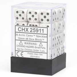 Dice - Speckled Artic Speckled12mm D6 Block (36)