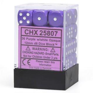 Purple Opaque 12mm D6 Block (36)