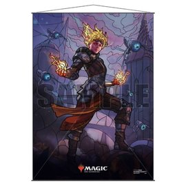 Stained Glass Chandra Wall Scroll