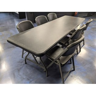 8 ft table and 6 chairs