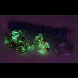 Nebula Copper Matrix Orange Dice Set