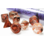 Nebula Copper Matrix Orange Dice Set