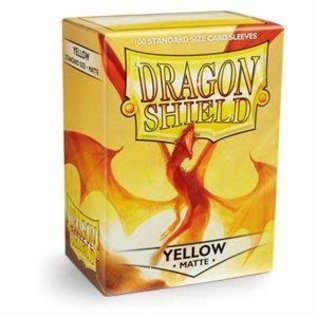 Dragon Shield 100ct Box Deck Protector Matte Yellow