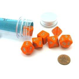 Orange Turquoise Heavy Dice Set