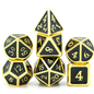 Goblin Dice Black & Gold Metal Dice