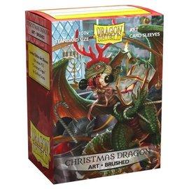 Arcane Tinmen Brushed Art Dragon Shield - Christmas Dragon