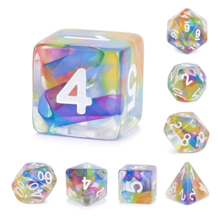 Goblin Dice Rainbow Ribbons Dice Set