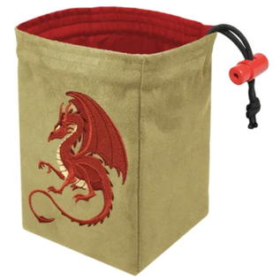 Red King Co Fantasy Red Dragon Embroidered Dice Bag