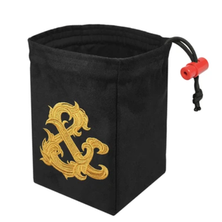 Gilded Ampersand Embroidered Dice Bag